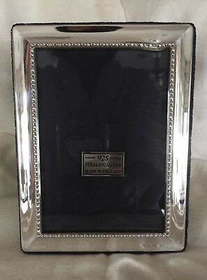 HALLMARKED STERLING SILVER  ENGLISH PICTURE FRAME-NEW IN BOX -  with some damage