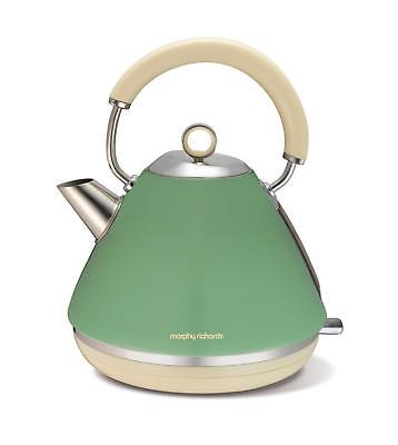 Morphy Richards Traditional Kettle 1.5Ltr Removable Limescale Filter Sage Green