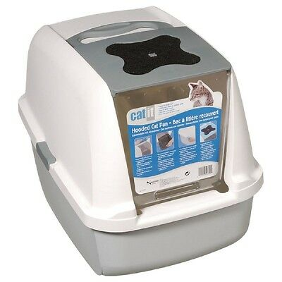 Cat Litter Box with FREE Replacement Filters Trendy Leak Proof Easy to Clean