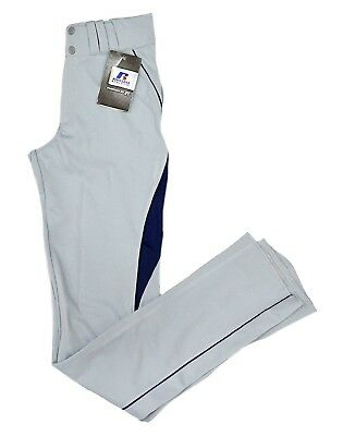 (Adult X-Large, White/Royal) - Russell Baseball Pants with Mesh Details (Youth