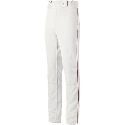 (Medium, White/Red) - Mizuno Youth Global Elite Piped Pant. Free Delivery