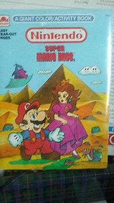 1989 Vintage Mario, Batman, Real Ghostbusters Coloring Book Pack SEALED ~~ RARE