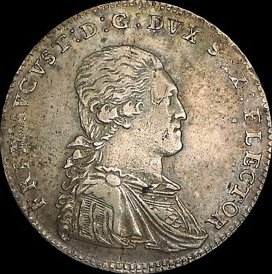 1791 Germany Saxony-Albertine 1/3 Thaler Silver Coin Augustus Frierich
