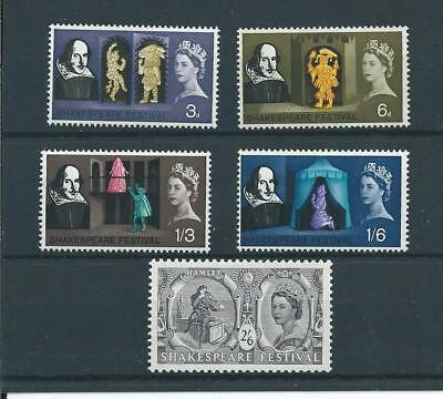 wbc. - GB - COMMEMS - 1964 - SHAKESPEARE - UNMOUNTED  MINT SET