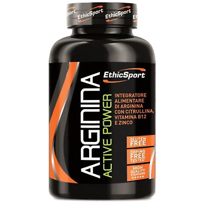 EthicSport Arginina Active Power 90 cpr da 1500mg Arginina citrullina Zinco