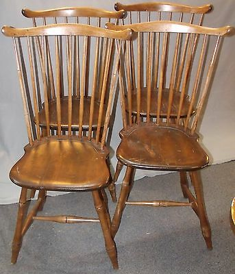 Set of 4 - Circa 1790 - 1800 Rhode Island Maple Fan Back Windsor Chairs