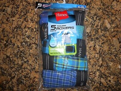!!! Great Deal On 5 Pairs Of Hanes Boy's Boxers Size Ms/p 6-8 !!!