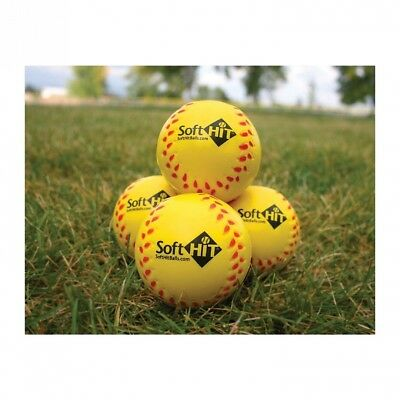 Soft Hit Seamed Foam Practise Softballs Yellow (6 Pack). Shipping Included