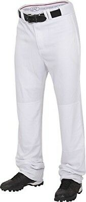 (Large, White) - Rawlings Youth Straight Fit Unhemmed Pants. Huge Saving