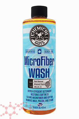 Chemical Guys Microfiber Wash 473ml 16oz ~ Car Cleaning Detergent Concentrate