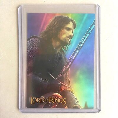 Aragorn Prismatic Foil #1 / Two Towers / Lord Of The Rings Cards