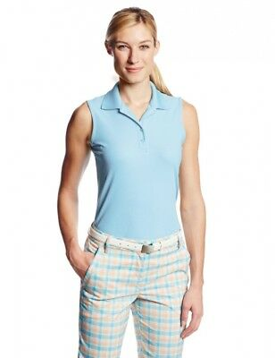 (XX-Large, Polar) - Greg Norman Women's Protek Micro Plique Sleevless Polo