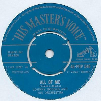 """Johnny Hodges And His Orchestra - All Of Me - 7"""" Single"""