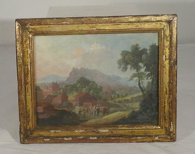 Fine Antique Old Master Painting Gouache Pierre Antoine Patel Signed French