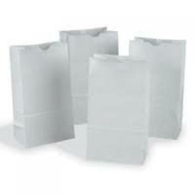 Hygloss Gusseted Flat Bottom Bags, 5 x 3 x 9 3/4-Inch, 100 Pack, White