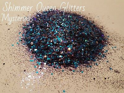 NAIL ART, FESTIVAL, BLUE/PURPLE GLITTER MIX, CHUNKY AND FINE 5g PACK)