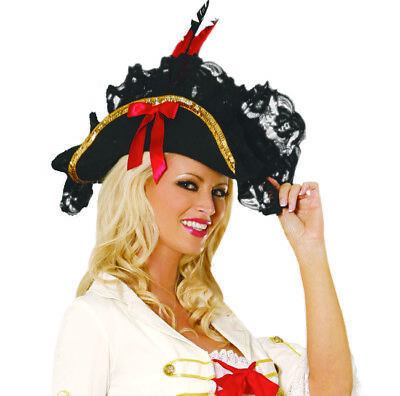 Perfect Pirate Hat! Costume! Adult Woman Halloween