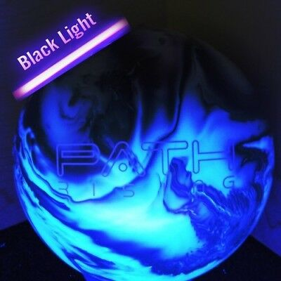 (6.4kg, Black/Silver) - Pyramid Path Rising Pearl Bowling Ball. Delivery is Free