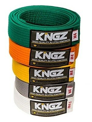 (M4, Green) - Kingz Solid Colour Kids Belts. Free Delivery