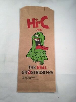 Hi-C Hi C Ecto Cooler The Real Ghostbusters Paper Bag Advertising Promo 1984