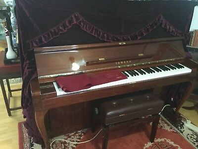 YAMAHA UPRIGHT PIANO with stool, protective covers hardly used LOCAL PICKUP ONLY