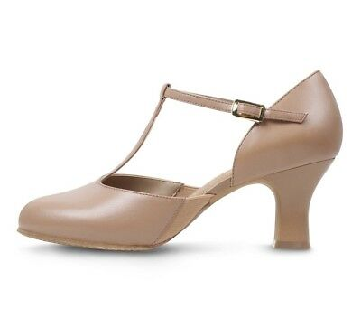 USED 9.5 Bloch Splitflex Character Shoes Tan