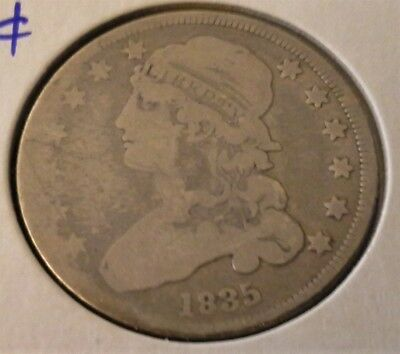 1835 Capped Bust Quarter - Nice Coin.