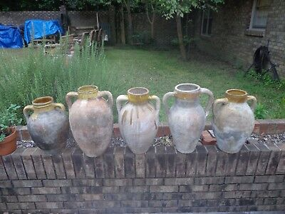 5 19Th Century Terra Cotta Turkish Olive Oil Jars / Priced Individually $75 Each