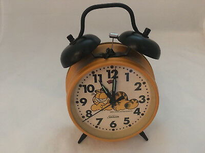 Garfield Wind Up Alarm Clock Sunbeam 1978 United Feature Syndicate Vintage