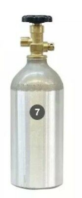 Empty 2.5 lb. Aluminum CO2 tank - In Date - From Kegerator.com - for draft beer