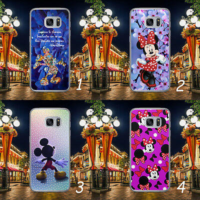 Disney Mickey Minnie Mouse Patern Quote Hard Phone Case Cover For Samsung/huawei