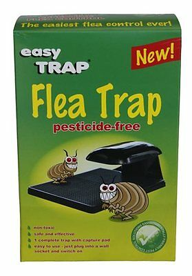Easy Trap Flea Pesticide Free Safe Dog Cat Pets Replaceable Sticky Pad