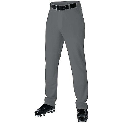 (L Youth, Dark Gray) - Alleson Pant-Open Bottom - Youth. Alleson Athletic
