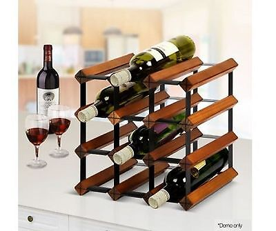 Wine Rack Bottle Holder Storage Wooden Cellar Liquor Organiser Bar Stand Vodka