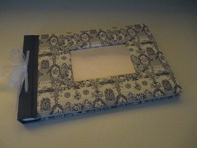 Beautiful French Blue Toile Photo Album 325mm x 220mm Approx 40 pages