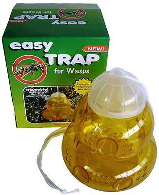 Reusable Easy Trap Wasp Pest Control Size 130mm x 150mm NEW 10pk Good Quality