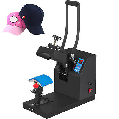 "Heat Press Transfer Digital Clamshell 7""x3.5"" Hat Cap Sublimation Machine New"