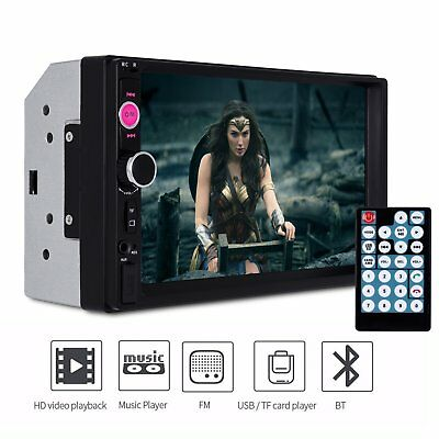 """7"""" Car Stereo MP5 Player 2 Din In Dash Touchscreen Bluetooth FM Radio USB/TF Aux"""