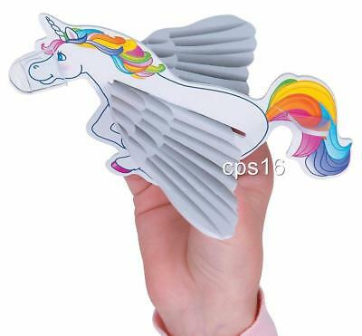 6 Unicorn Gliders...Rainbow Party Favours...Loot Box Fillers...Craft...Treat Box