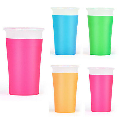 Mordern Useful Miracle Kids Toddlers 360 Safe Feeding Spill Proof Training Cup