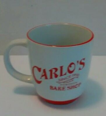 THE CAKE BOSS, CARLOS BAKE SHOP  Red and White  16 oz Mug