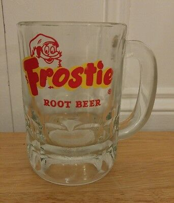 "Vintage Frostie Root Beer Heavy Glass Mug 5"" Tall Soda"