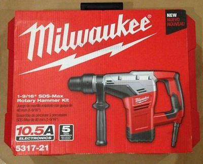 "Milwaukee 5317-21 1-9/16"" SDS-Max Rotary Hammer-,-"