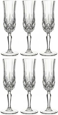 RCR Opera Crystal Champagne Glass, Set of 6. Lorren Home Trends. Brand New