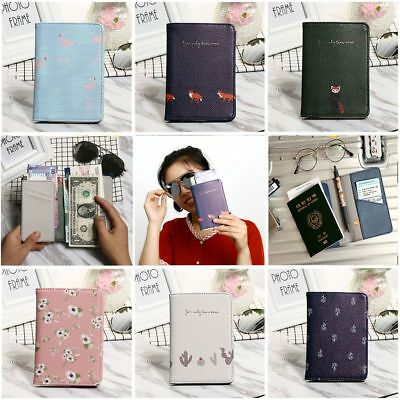 Unisex Cute Leather Passport ID Holder Clip Cover Travel Wallet Passport Set Hot