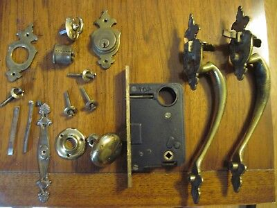 Antique Door Lock With Handles