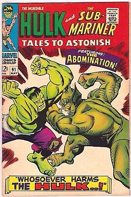 Tales To Astonish#91 Vf 1967 Marvel Silver Age Comics