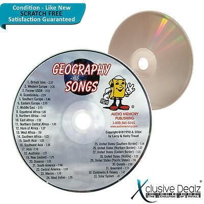 Audio Memory: Geography Songs for Teaching 2004 CD - Scratch Free Disc #XD23
