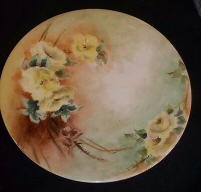 T & V France ?Limoges? decorative floral plate