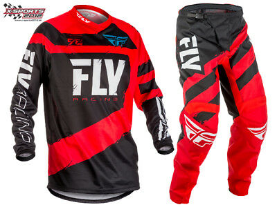 Fly Racing F-16 Motocross Combo 2018 Rot Schwarz MX Enduro Hose Jersey